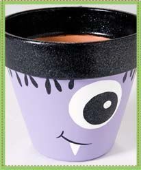 Plaid® One-Eyed Purple Monster Pot. a small clay pop would be the perfect flatware holder for a monster party or kids Halloween party. & 122 Best clay pots ( halloween) images in 2017 | Flower pot crafts ...