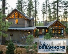About the Front Yard: Built in the style of New Mountain architecture, this home offers a modern twist on the traditional mountain house. Dream Home Design, My Dream Home, House Design, Hgtv Dream Homes, Lake House Plans, Lakefront Property, Future House, New Homes, Villa