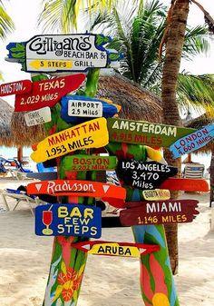 Beach bar, 5 steps.