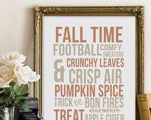 Fall Printable Fall Decor Subway Art Instant Download Wall Art Fall Print Autumn Decoration Digital Print DIY
