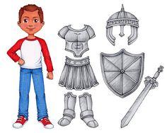 Zetten de wapenrusting God is leuk voor iedereen met deze set van digitale kunst. U kunt gebruiken voor illustraties of uitprinten om te gebruiken als een papieren set voor de spelen van de pop. Zowel jongen en meisje worden aangeduid met hun eigen sets van armor. Ze zijn ongeveer 7 inch groot, en komen in .png-formaat. (Dit geeft hen een transparante achtergrond) Elke set van armor bevat:  -Helm (van de zaligheid) -Borstplaat (gerechtigheid) -Rok (lendenen girt over met de waarheid)…