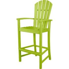 Palm Coast Patio Barstool in Lime