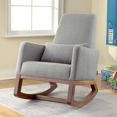 Rocker and ottoman wooden rocking chair for nursery chair for baby room feeding rocking chair baby room rocking chair childs rocking chair cheap rocking Glider Rocking Chair, Rocking Chair Nursery, Wooden Rocking Chairs, Wooden Rocker, Site Bebe, Nursery Rocker, Baby Rocker, Nursery Inspiration, My Living Room