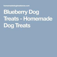 Blueberry Dog Treats - Homemade Dog Treats