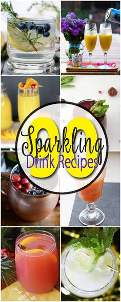 EVERY cocktail recipe you will ever need!!! More than 90 sparkling drink recipes on this list to add to your menu for every party, celebration, holiday, shower and occasion. With everything from cocktails to non-alcoholic drink options there is something for every event from a casual family gathering to the fanciest of parties. Even find an idea for a signature cocktail!  Saving this for future reference!  #SparklingHolidays AD