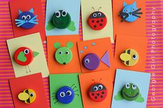 bottle top animal cards