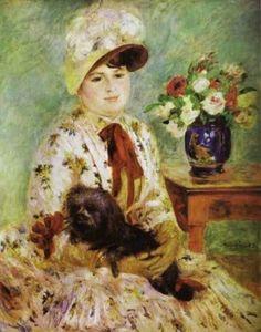 Pierre-Auguste Renoir (French Impressionist Painter, 1841-1919) Portrait of Madame Hagen 1883