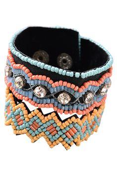 Jewel Cult - Lawan Boho Beaded Band Bracelet, $18.00…