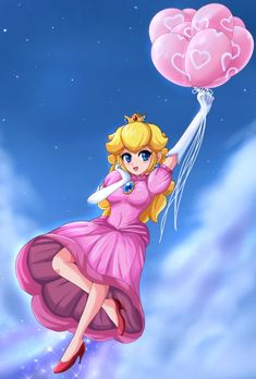 Floating in bliss -commission- by SigurdHosenfeld on deviantART, Princess Peach