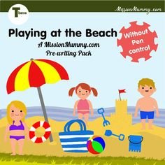 Dive into the sand with these varied and pen control free activity sheets, using a variety of basic concepts. These high colour, engaging, pages are perfect for a week long unit accompanying your chosen language curriculum.Extended 15 page pack.This pack is without pen control activities. It does ho... Writing Pens, Pre Writing, Free Activities, Activity Sheets, Curriculum, Preschool, Packing, Language, The Unit