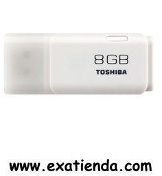 Ya disponible Memoria USB 2.0 Toshiba 8gb blanco   (por sólo 12.89 € IVA incluído):   -Capacidad: 8GB -Interface: USB 2.0 -Velocidad lectura: 17MB/s -Velocidad escritura: 7 MB/s -Otros:- -Color: Blanco  -P/N: THNU08HAY(BL5 Garantía de 24 meses.  http://www.exabyteinformatica.com/tienda/699-memoria-usb-2-0-toshiba-8gb-blanco #memoria #exabyteinformatica