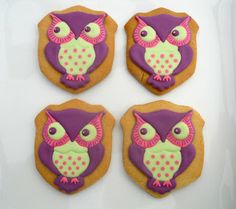 .Oh Sugar Events: Owl Cookies