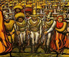 Revolución Mexicana, detalle, por David Alfaro Siqueiros