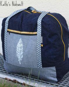 AWS: Die Reisetasche… Taschenspieler 3 Sew Along Denim Jeans, Gym Bag, Sewing, Bags, Creative, Fashion, Fabric Purses, Tejidos, Sew Simple