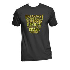 Hobbit Diet T-shirt. Lord of the rings inspired. Printed in American Apparel