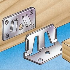 Center Rail Fasteners (2 male and 2 female pieces) - Rockler Woodworking Tools