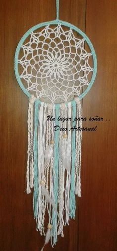 Dream Catcher Patterns, Lace Dream Catchers, Beautiful Dream Catchers, Dream Catcher Craft, Crochet Wall Art, Crochet Home, Crochet Yarn, Doily Patterns, Crochet Patterns
