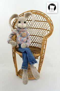 #rabbit #filc #polandhandmade #felt #ooak #teddybear #fartfilcinietylko #fartownemisie #toy