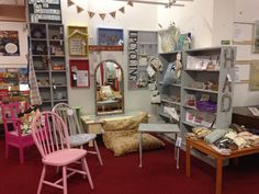 The upcycling corner at Emmaus Mossley.