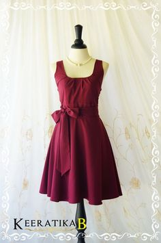 My Lady Maroon Sundress Vintage Design by LovelyMelodyClothing