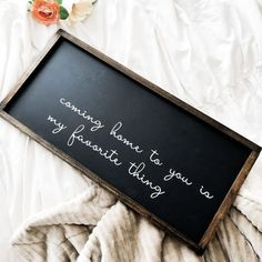 Shop our beautiful farmhouse bedroom decor with this Coming Home To You wood sign. This lovely sign would turn any bedroom into a cozy retreat surrounded by love. Bedroom Signs, Wood Bedroom, Bedroom Decor, Wall Decor, Signs For The Bedroom, Girls Bedroom, Rustic Bedrooms, Trendy Bedroom, Master Bedrooms