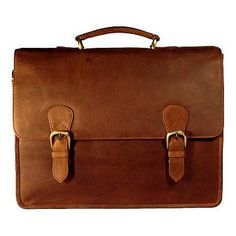 Dress for the job you *want* with this stylish Bison Leather executive briefcase from Alberta Fine Leathers - designed by Adrian Klis.