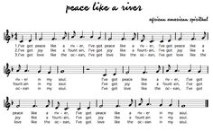 Beth's Music Notes: Peace Like a River with sign language- for peace day