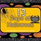 """Have a bit of """"humorously haunted"""" fun counting down the days to Halloween!   There are 13 different math, ELA, and art activities for students to ..."""