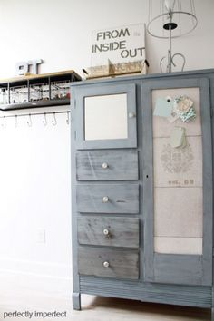 furniture makeover shabby chic armoire