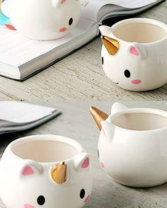 Taza Ceramica En Forma De Unicornio 3d H1307 - $ 149.00 Ceramic Cups, Ceramic Pottery, Quirky Homeware, Bowl Designs, Home Gadgets, Polymer Clay Charms, Cute Mugs, Diy Planters, Easy Diy Crafts