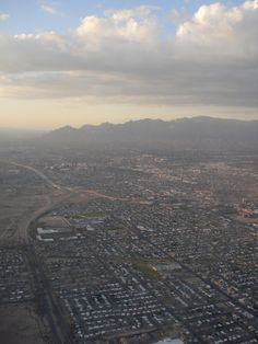 My home from 10,000 feet (give or take a few feet)...Tucson, Arizona from the skies! (Taken by Sarah Croaker)