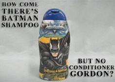 Batman Hair Care Puns