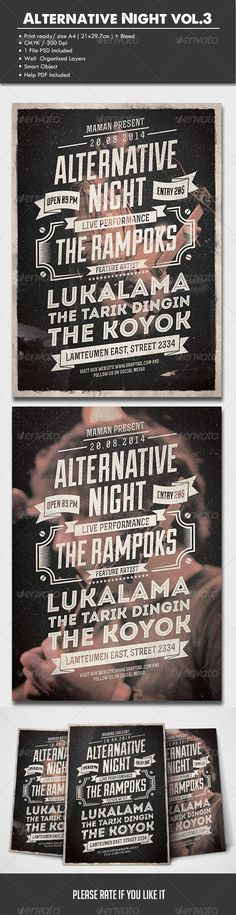 Rock Or Metal Flyer | Flyer Template, Metals And Rock