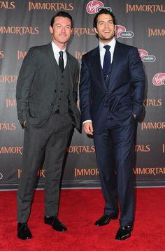 Henry Cavill & Luke Evans @ premiere of Immortals
