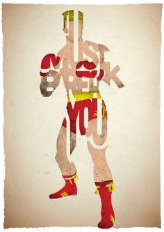 Ivan Drago (Drive-In Prints)   By: 17th and Oak, via GeekTyrant (#ivandrago #rocky)
