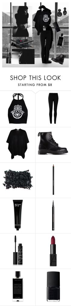 """""""Outfit Inspired by Hannah Pixie Sykes ♥"""" by dadyrabbit on Polyvore featuring ADAM, Boohoo, Max Studio, Chesca, Dr. Martens, Lancôme, Bobbi Brown Cosmetics, H&M, NARS Cosmetics and Agonist"""