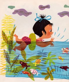 Summer swim... - illustration