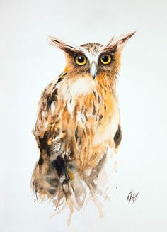 Buy Buffy Fish Owl, Watercolour by Andrzej Rabiega on Artfinder. Discover thousands of other original paintings, prints, sculptures and photography from independent artists.
