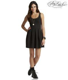 $42; Pretty Little Liars Aria Studded Ponte Dress - Aeropostale