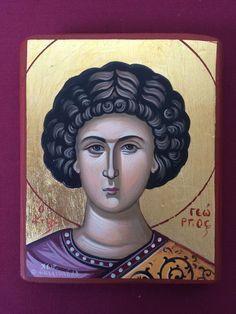 Saint George Hand Painted Greek Orthodox Christian Byzantine Icon   | eBay Byzantine Icons, Orthodox Christianity, Saint George, Saints, Hand Painted, Etsy Shop, Unique Jewelry, Handmade Gifts, Greek