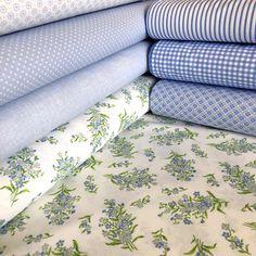 Nezábudky na bielej česká bavlna - Kvetinovelatky.sk - online obchod s Bavlnenou metrážou Cotton Fabric, Cotton Textile
