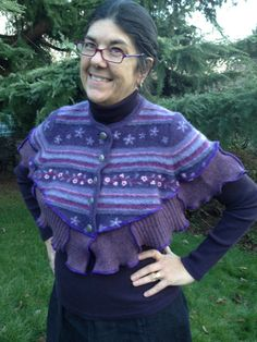 Wool Felted Cape Shawl Collar Upcycled by danamurphydesigns, $45.00