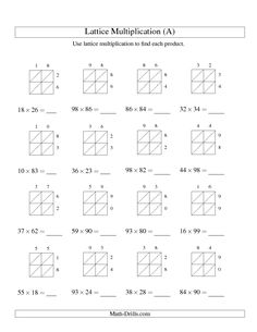 feb42618e9f9ee2f19a85af6106ebcea multiplication worksheets lattice multiplication single digit division worksheet 2 dessert ideas pinterest 2 on group worksheets in excel