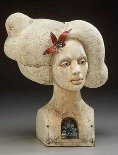 lisa clague colaborative work with jeweler Deb Karash Ceramic Figures, Clay Figures, Ceramic Art, Paper Mache Clay, Clay Art, Ceramics Projects, Art Projects, Sculpture Clay, Ceramic Sculptures