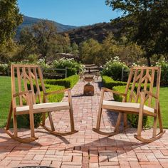 Best Selling Home Nunez Outdoor Wood Rocking Chair - Set of 2 - 299255