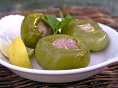 """""""Pepper Shooters"""" (Prosciutto and Provolone Stuffed Cherry Peppers, marinated in vinaigrette). Addictive!!!"""