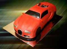 bugatti veyron car cake-jared 16th bday cake idea???
