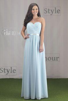 1da6c4e9b3 Chiffon Strapless Bridesmaid Dress with Sweetheart Neckline