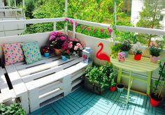 ALKEMISTEN DIY - balcony balkong happy color decorate diy surf flowers blommor flamingo annie sloan chalkpaint