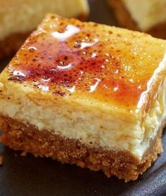 Creme Brulee Cheesecake Squares | Want-to-Share.com